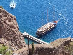 Docked in Santorini